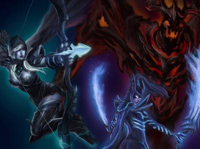 Dota 2 Heroes; Illustration
