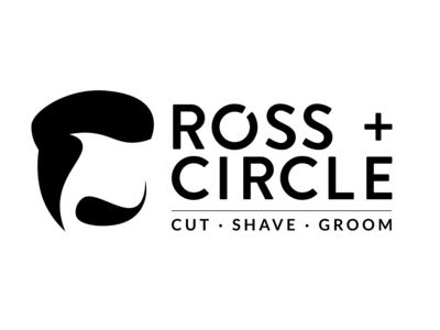 Ross + Circle Barbershop Logo