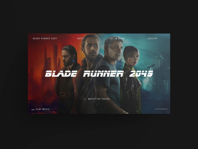 Blade Runner 2049 – website glitch ui jquery html5 player audio video animation design css3