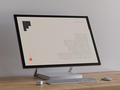Portfolio 2020 – design beige clean minimalism branding orange grey black uxui folio design website portfolio