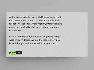Portfolio 2021 – Responsive animation portfolio front-end development feature easter egg responsive interaction uxui animation