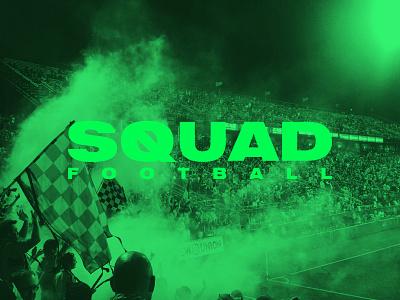 SQUAD –Logo sports soccer football visual identity branding logo