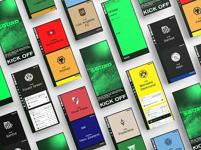 SQUAD – Platform branding responsive sports soccer football grid uxui