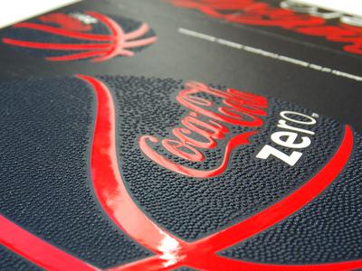 Coke Zero Basketball Tactile Artwork