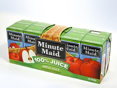 MinuteMaid Apple Juice package design juicebox applejuice minutemaid brand engagement graphic design beverage packaging illustration consumer goods branding package design