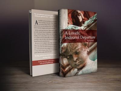 """""""A Lovely Indecent Depart"""" book cover design"""