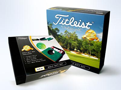 Titleist Golf giftbox functionality print design graphic design brand engagement design consumer goods package design branding