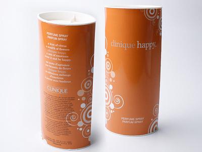 Clinique Happy perfume graphic designer graphic design print design design illustration consumer goods brand engagement package design branding