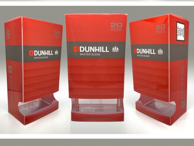 British American Tobacco Group - Dunhill duty-free carton duty-free packaging tobacco plastic packaging clear design print design illustration graphic design consumer goods brand engagement package design branding
