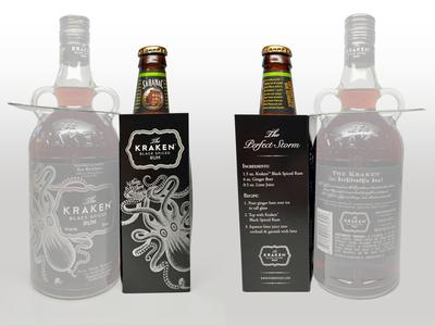 Kraken Black Spiced Rum carton design