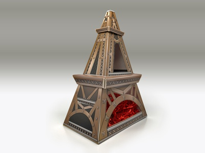 The Body Shop Eiffel Tower set-box design eiffel tower setbox giftbox the body shop vector print design illustration graphic design consumer goods brand engagement package design branding