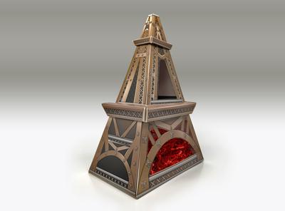 The Body Shop Eiffel Tower set-box design