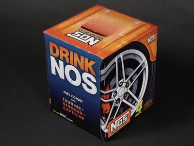 NOS Energy Drink 4pk carton design