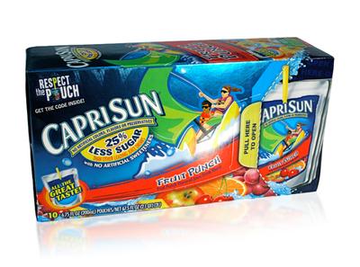 CapriSun 10 pouch package design