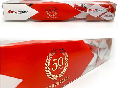 HLPKlearfold 50th Anniversary Umbrella Promo carton design promo promotional design umbrella consumer goods design vector clear design print design illustration graphic design brand engagement package design branding