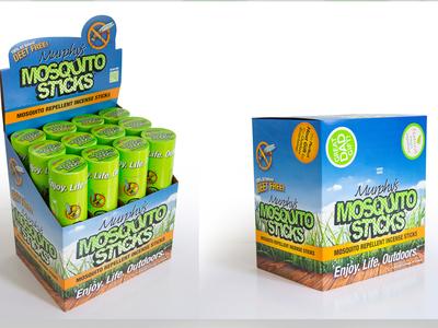 Murphys Naturals Mosquito Sticks case and display design