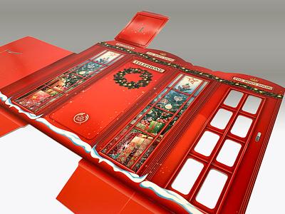 The Body Shop seasonal London inspired phone booth carton design phonebooth london giftbox vector print design illustration graphic design consumer goods brand engagement package design branding