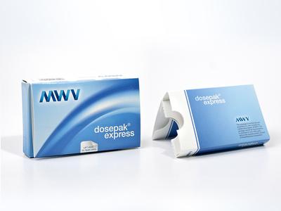 MWV Dosepak Express Pharma carton design