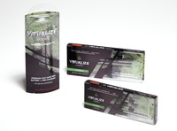 Visualize Vapes branding and carton design