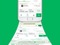 — Car riding app UI (Time)