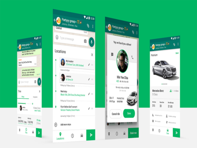— Car riding app (Case study) chat material profile design mobile ui timeline journey interaction app riding car