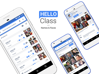 — Hello Class name face design interaction mobile voice teachers students class motion ui app