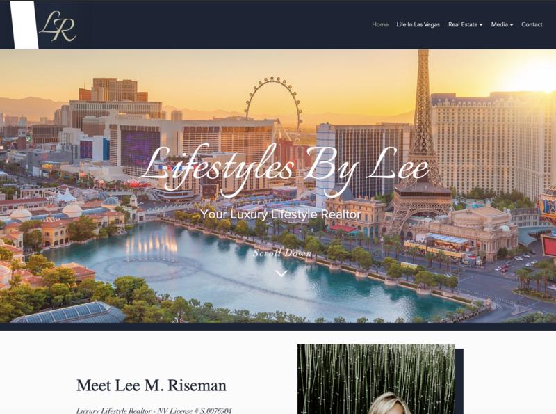 Lifestyles By Lee, Real Estate Agent, Personal Site website design marketing design ux ui web design website wix