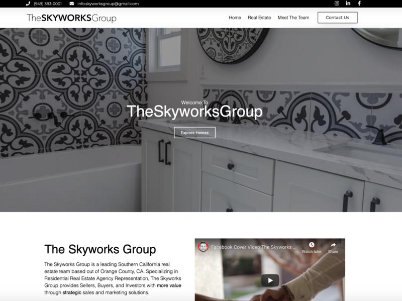 The Skyworks Group, Real Estate Firm website elementor-pro ui ux wordpress wordpress design marketing elementor web design website design