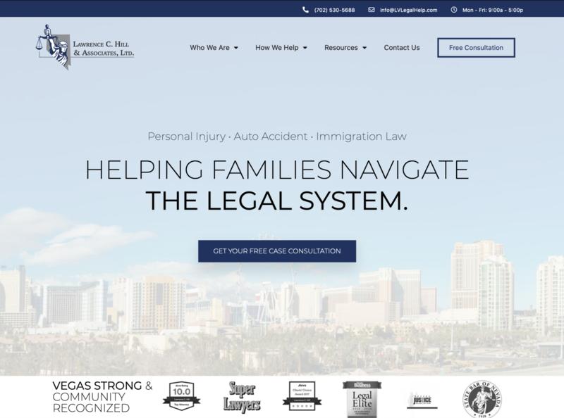 Lawrence C. Hill & Associates, Website Design + Development web design wordpress elementor-pro law firm wordpress design elementor marketing website design