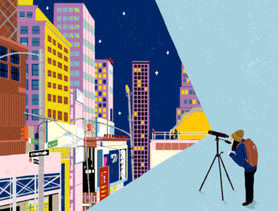 Telescope editorial illustration photoshop illustrator artwork new york illustration digital illustration art illustration