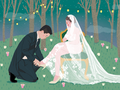 Happy Wedding lifestyle illustration digital painting illustration art artwork wedding invitation wedding commercial art illustrator illustration digital photoshop editorial illustration illustration