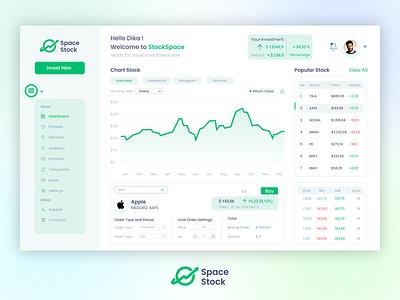 Space Stock Web App web app design investment saham space web app trading design ux ui stock