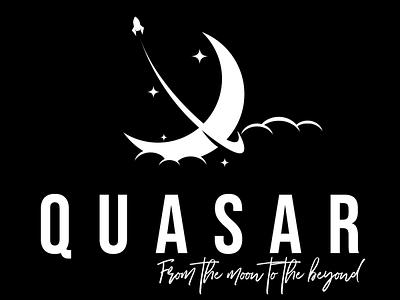 Daily Logo Challenge - Quasar challenge rocket illustration branding design logo