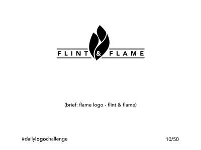 Daily Logo Challenge - 10/50 - flame name logo flame logo minimalist black and white logo illustration design challenge branding