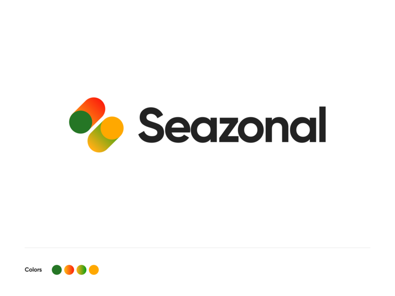 Seazonal logo 🍑🥬🍋 ios app vegetables fruits identity branding logodesigns logotype logo season seazonal