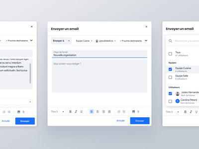 Sending emails with Skello 💌 skello text editor text platform saas feature email sending