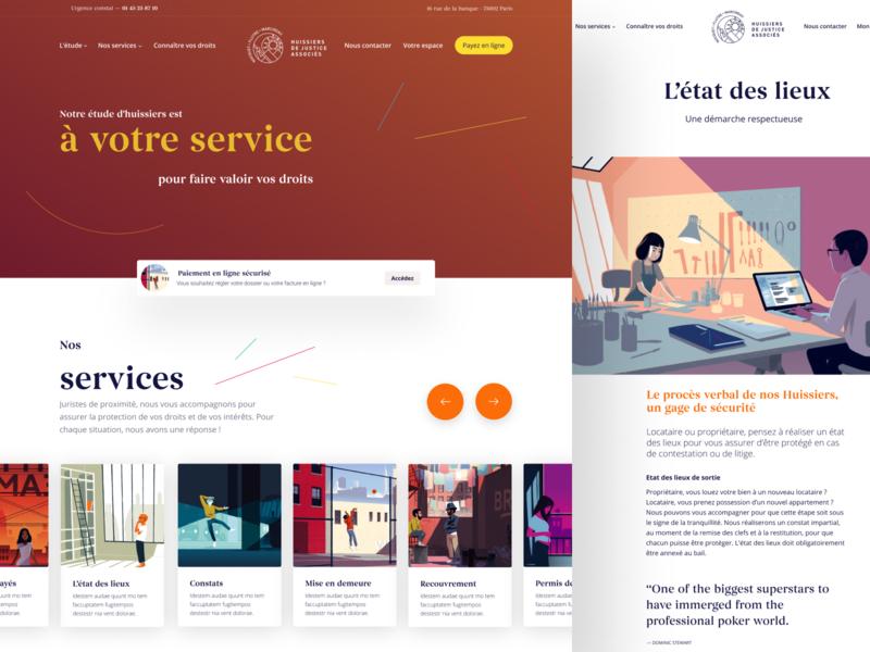 Nocquet 💼 illustration article branding redesign design ui landing page homepage nocquet