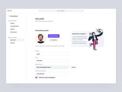 Profile Settings ⚙️ profil edit profile edit product saas preference clean photo picture settings profile