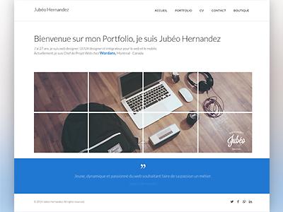 Portfolio webdesigner - Jubeo portfolio webdesigner webdesign mac ux flat clean website minimal