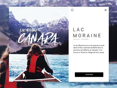 Lac Moraine ui ix clean reponsive website canada minimal blackwhite