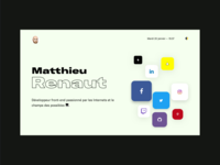New landing page of Matthieu Renaut 💻