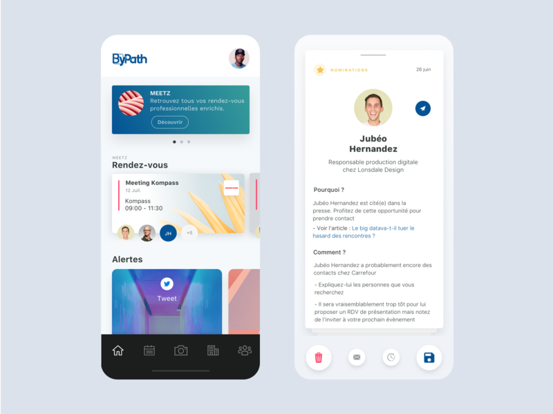App ByPath interface iphone redesign ux mobile home minimal sales bypath clean ios app