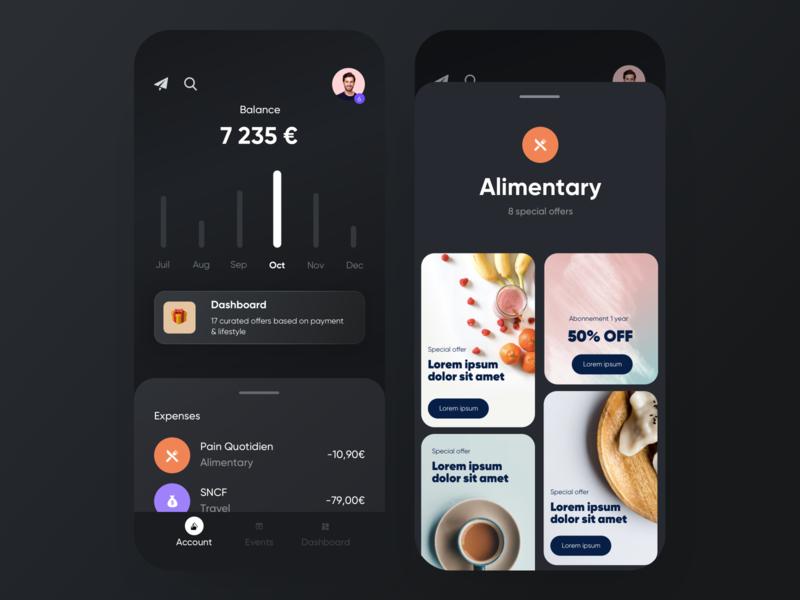 🏄♂️ Neobank — Lifestyle ios app dashboard bankingapp banking offers lifestyle ui neobank