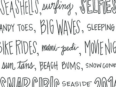 Beach Tank beach handwriting type