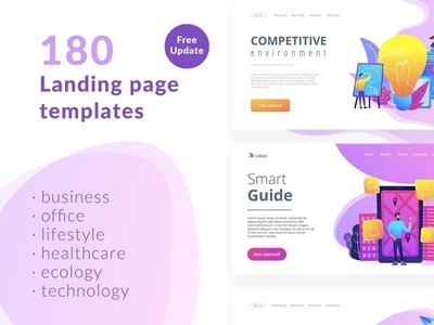 180 Landing page templates - Download