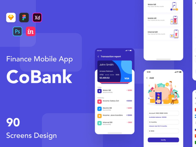 CoBank - Finance Mobile App UI KIT DOWNLOAD