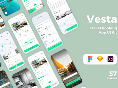 Vesta Travel Booking App UI Kit - DOWNLOAD