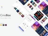 CineBox Movie App UI UX Kit