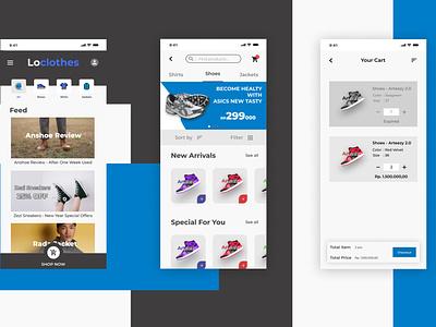 Fashion Brand App UI/UX mobile ux ui