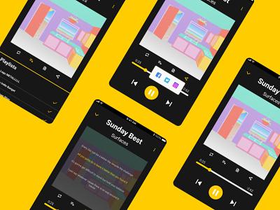 UI/UX Design Music App Player app design ux ui mobile